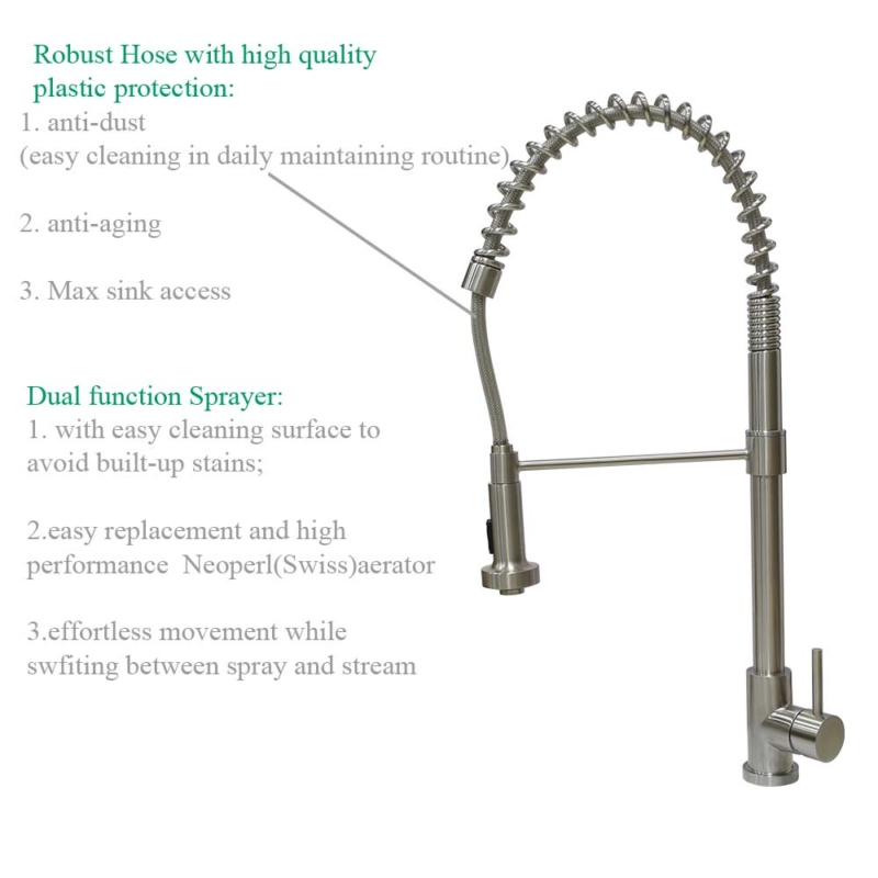 industrial kitchen faucet