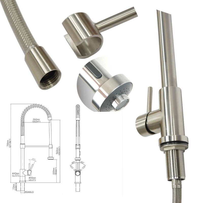 stainless steel commercial kitchen faucets