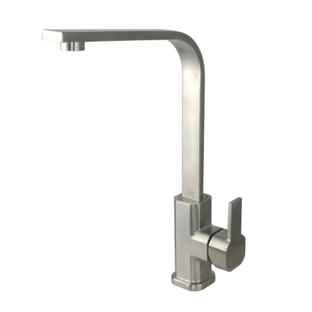 stainless steel square kitchen faucet