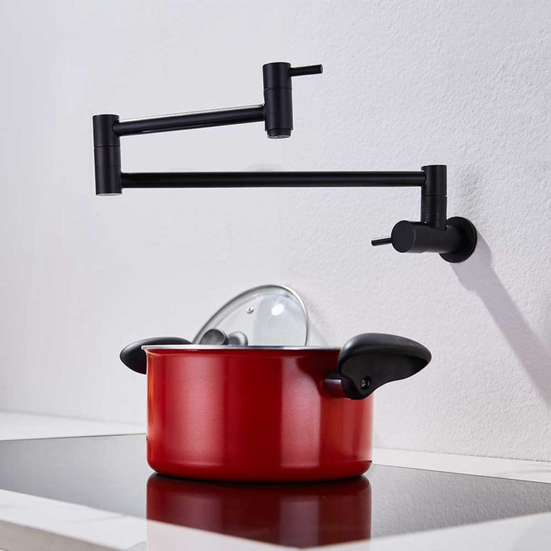 Matte Black Pot Filler Faucet