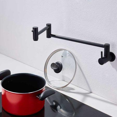 Matte Black Pot Filler Faucet