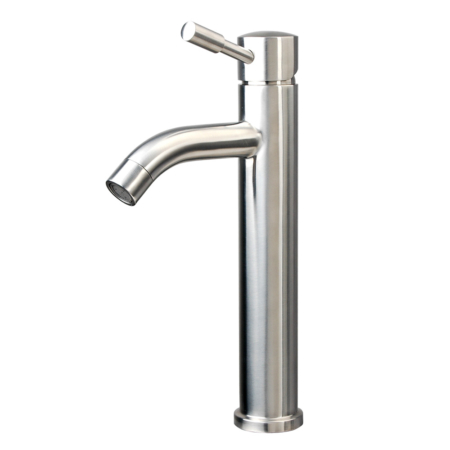 Stainless steel single handle tall bathroom faucet