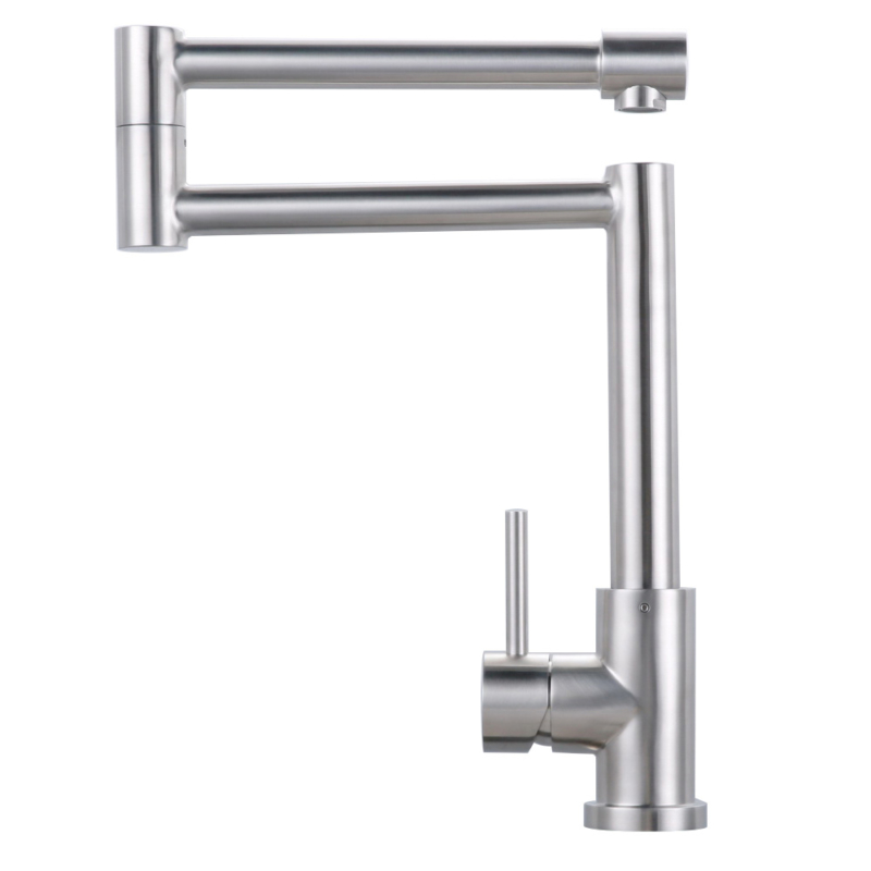 stainless steel articulating kitchen faucet