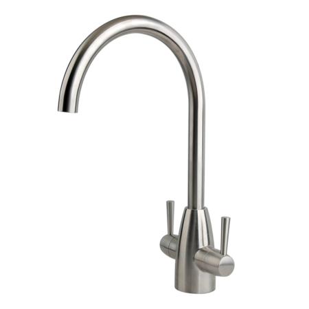 Stainless steel monobloc kitchen tap