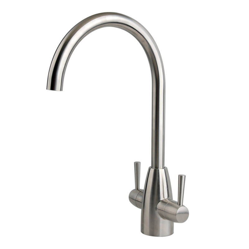 Stainless steel monobloc kitchen tap