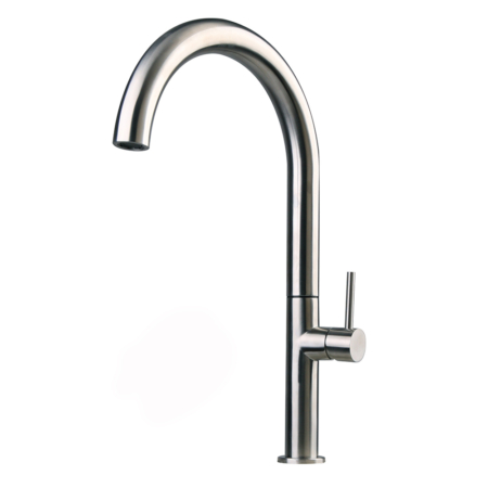 Stainless steel sleek kitchen faucet
