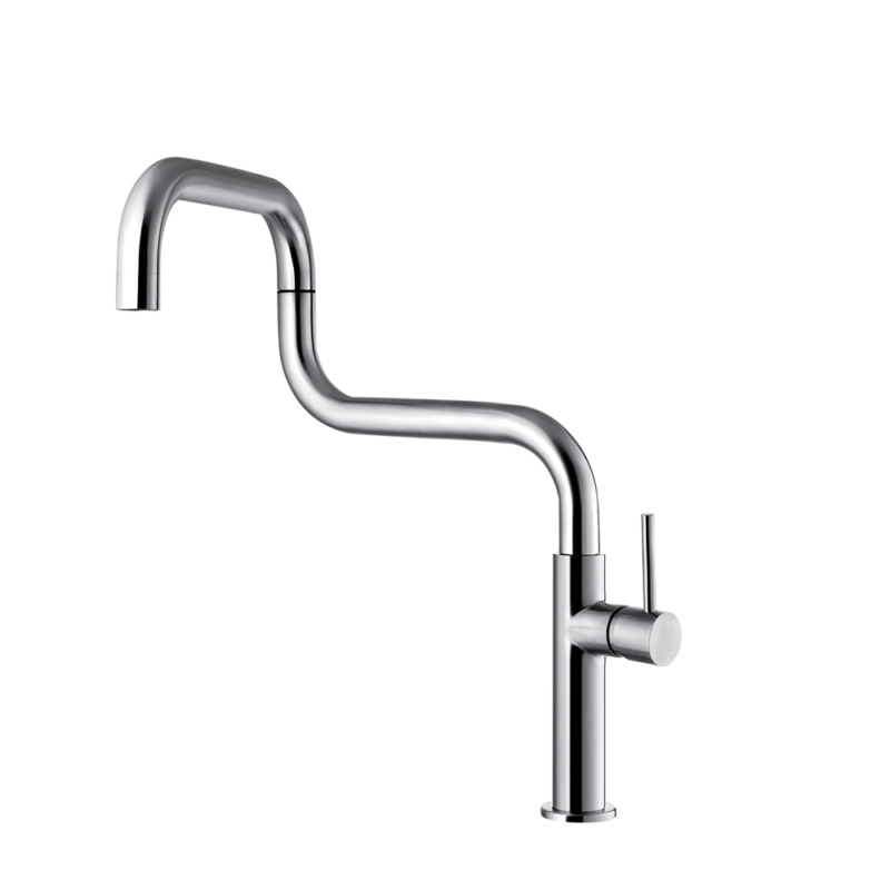 stainless steel folding kitchen tap