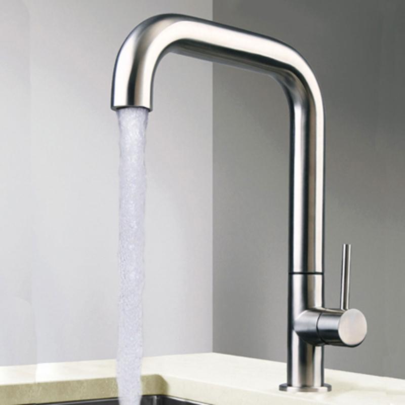 stainless steel Italian kitchen tap
