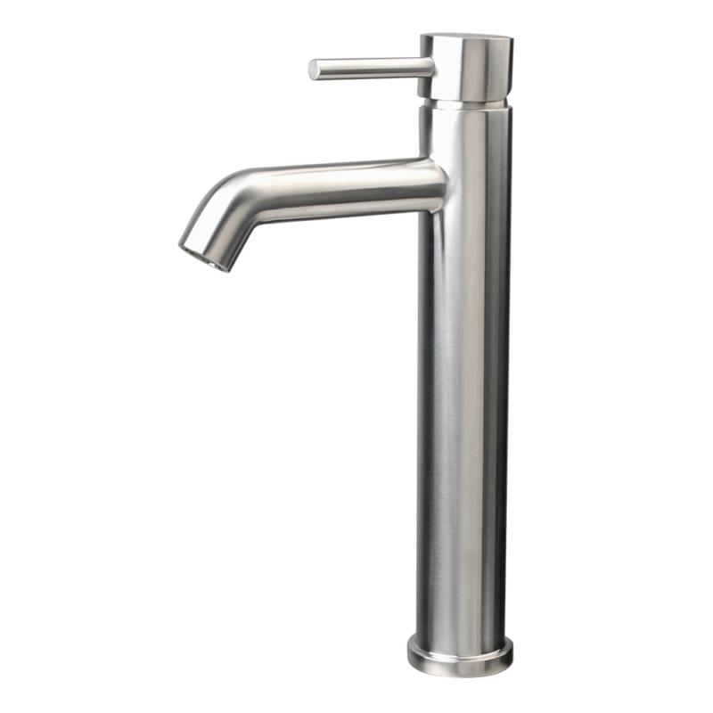 stainless steel singel hole vessel faucet