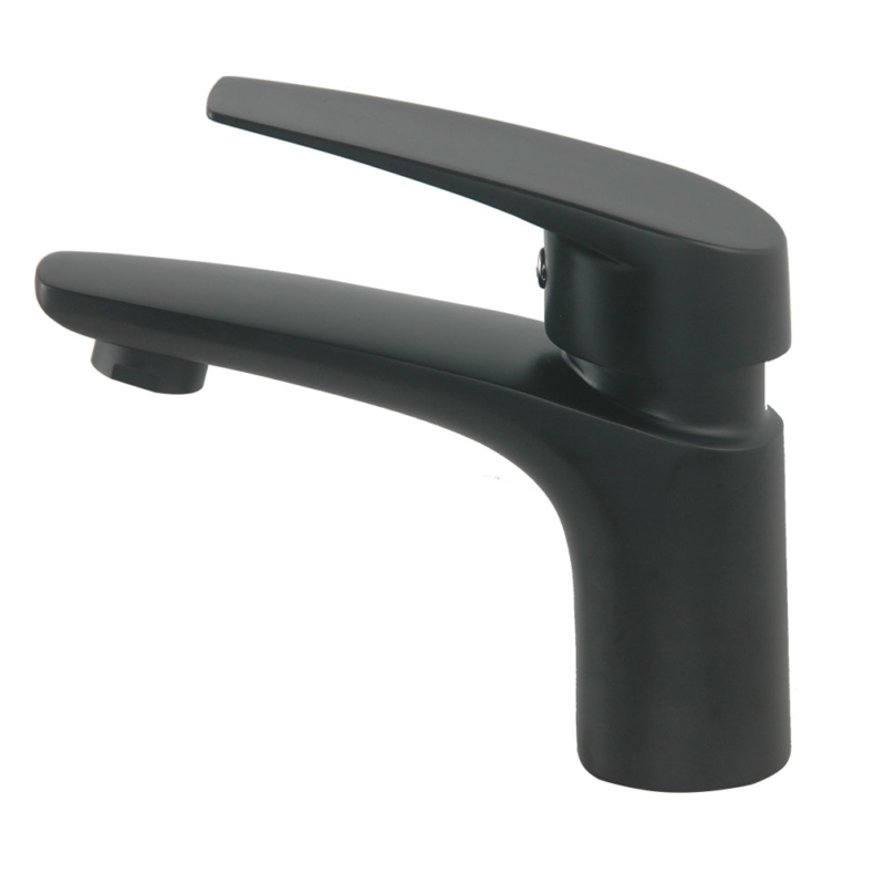 black bathroom sink faucet