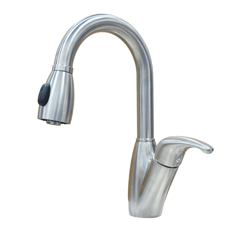 stainless steel upc kitchen faucet with pull down sprayer