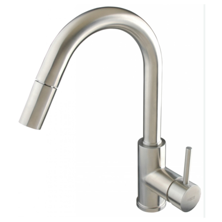 single handle pull down sprayer kitchen faucet