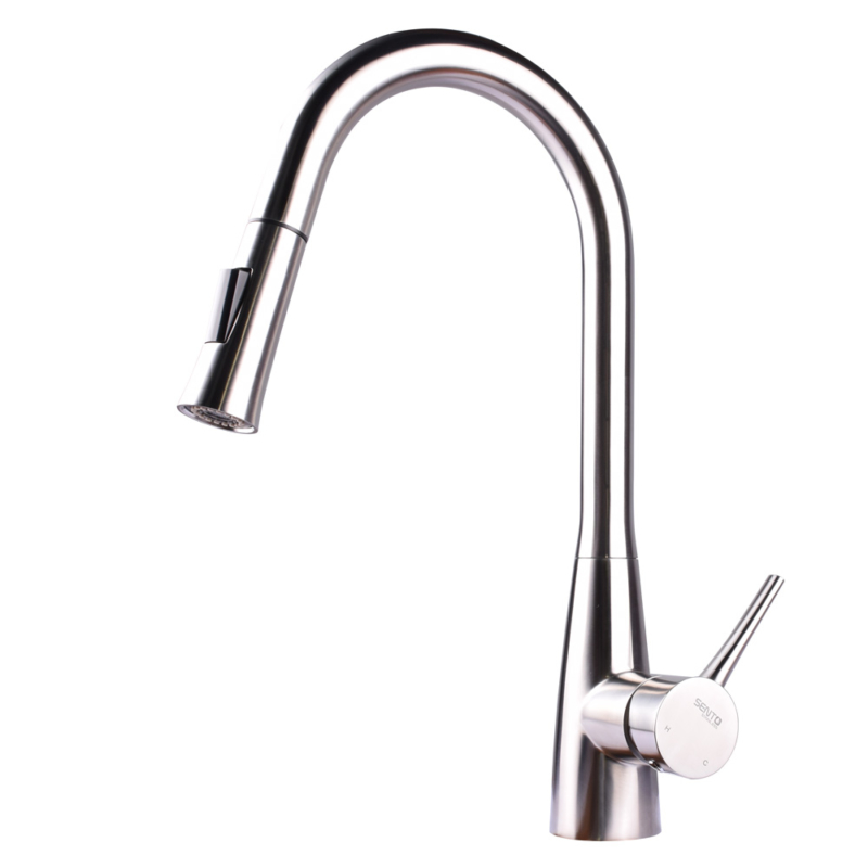 Exquisite Kitchen Faucet with pull down sprayer