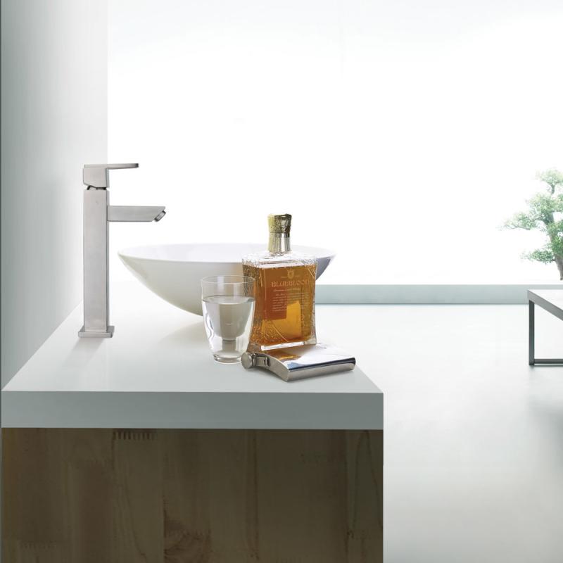 square vessel faucet