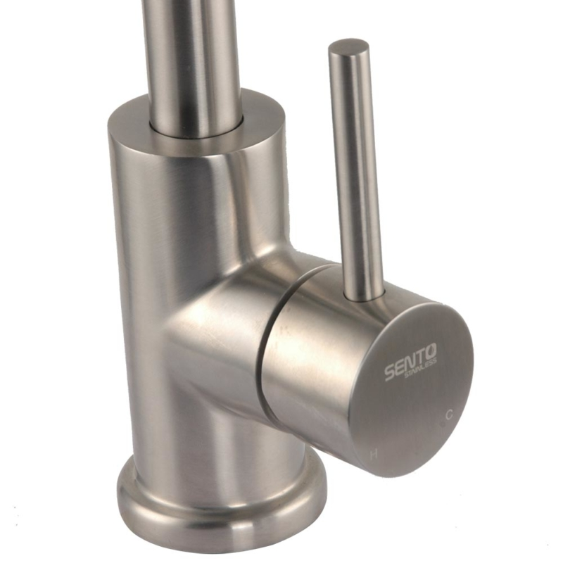 stainless steel Top rated single handle monobloc kitchen tap