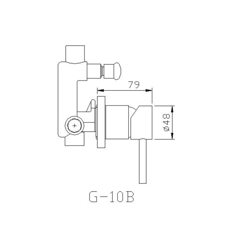 concealed shower diverter valve