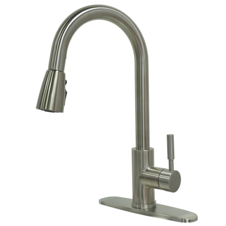 Commercial High Arch Single Handle Kitchen Faucets with Pause Control