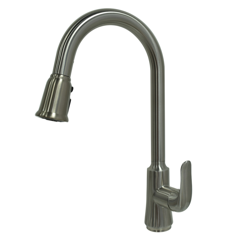 pull down kitchen faucet with pause control