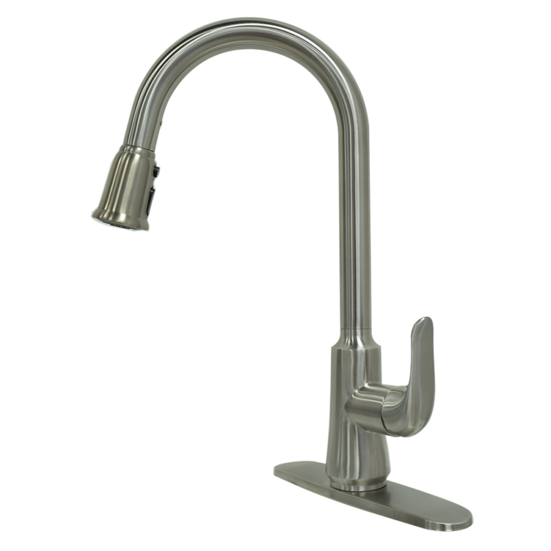 pull down kitchen faucet with Cheap stainless steel pull down kitchen faucet with hole cover plate