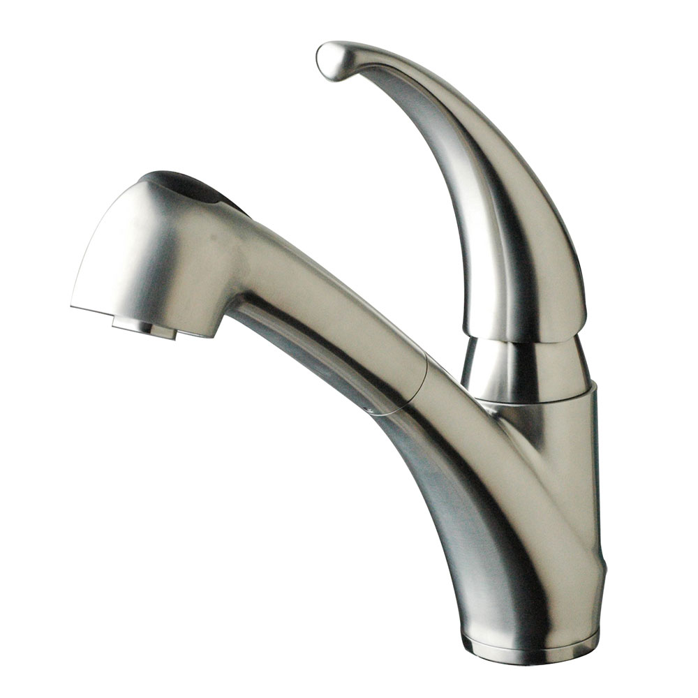 low profile kitchen faucet best low profile pullout kitchen faucet brushed stainless steel stainless steel faucets 2142