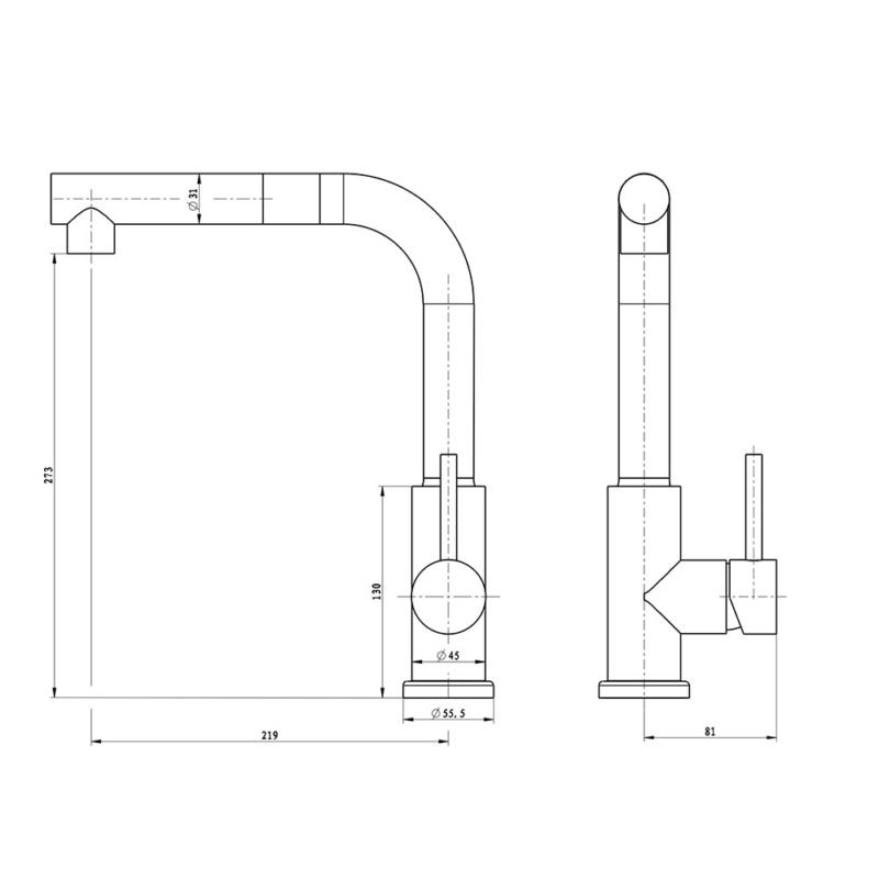 size ofantique gold kitchen faucet with extendable tap head