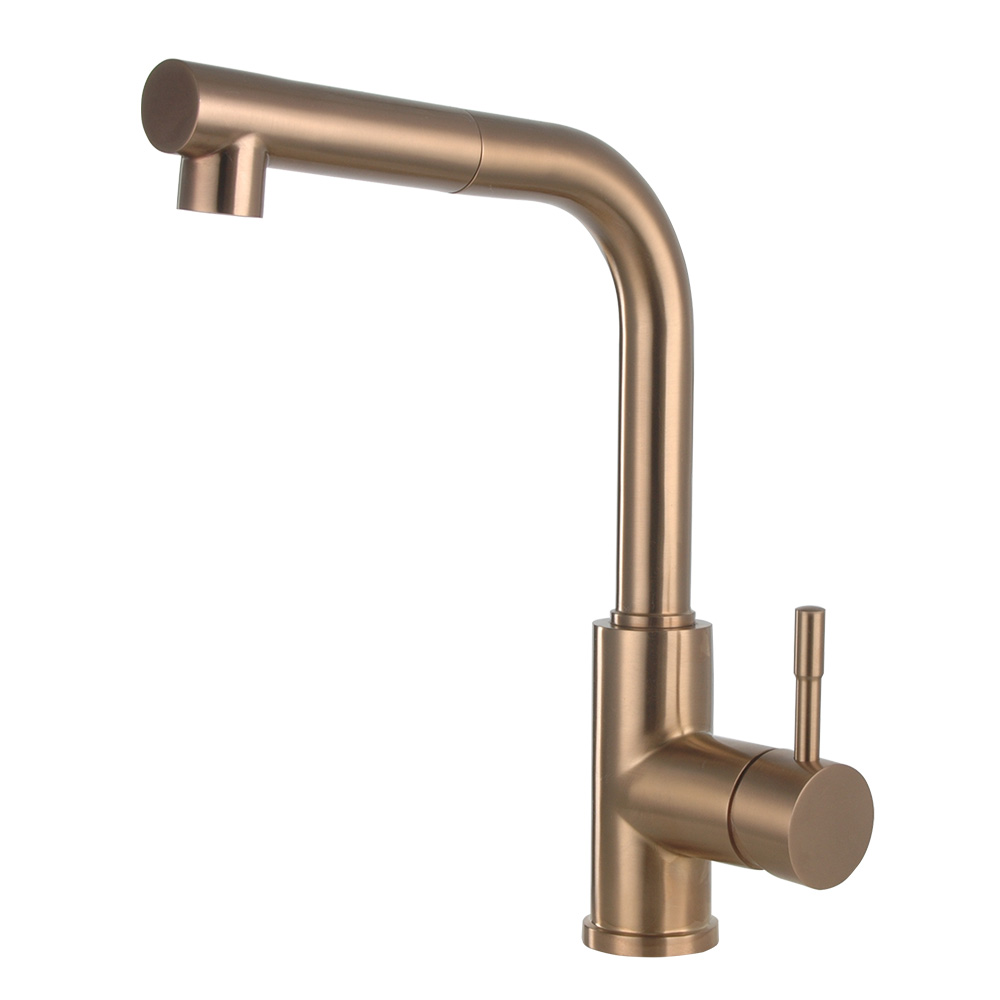 antique gold kitchen faucet with extendable tap head - Gold Kitchen Faucet