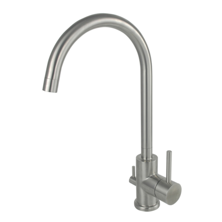 Single hole kitchen faucet with dishwasher valve