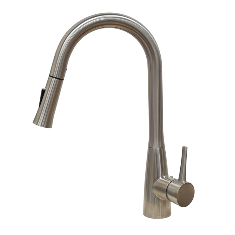 high quality stainless steel dishwasher faucet with pull down sprayer