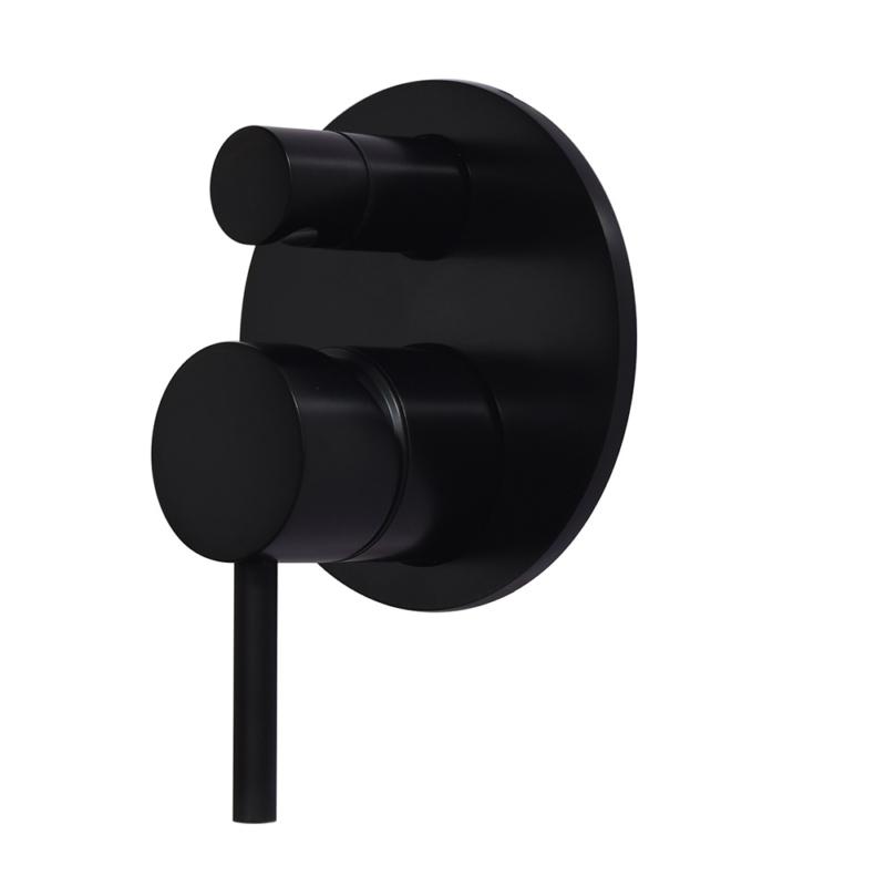 Concealed shower Valve Trim Kit in matte black