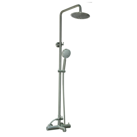 Best thermostatic shower, Brushed stainless steel