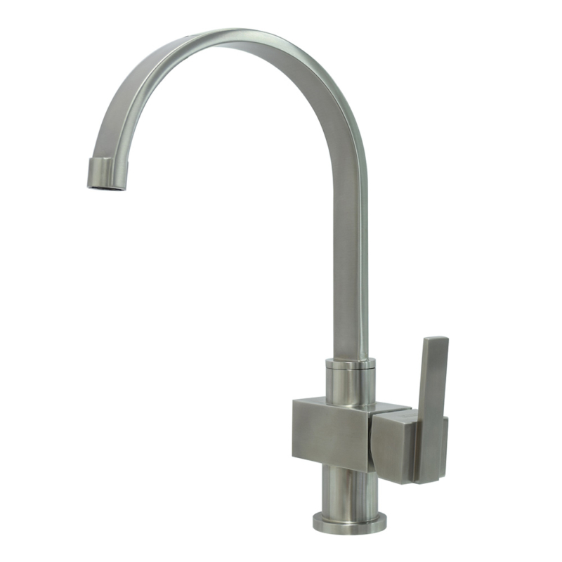 single hole single lever square kitchen tap