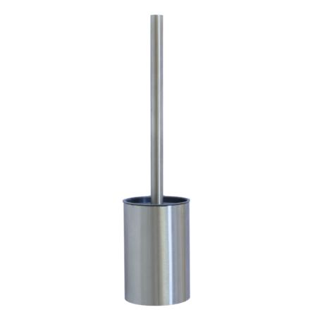 stainless steel toilet brush set