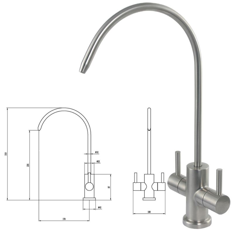 drinking water filter tap stainless steel