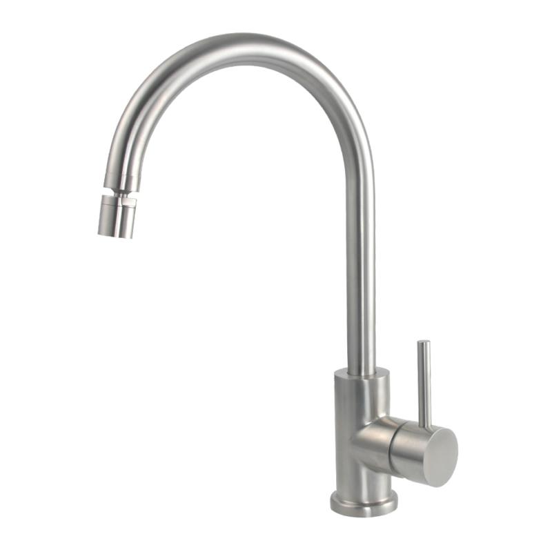 gooseneck kitchen faucet swivel nozzle
