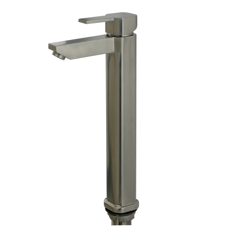 Stainless steel tall bathroom faucet