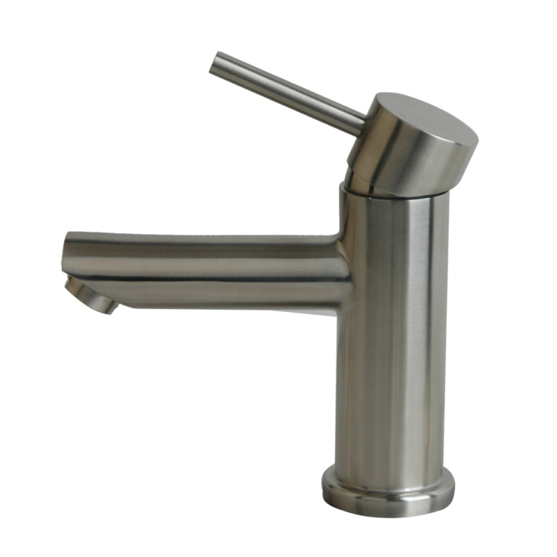 Brushed Stainless steel bathroom faucet