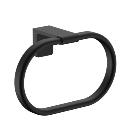 matte black towel ring
