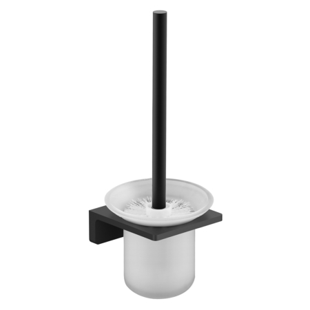 matte black toilet brush holder