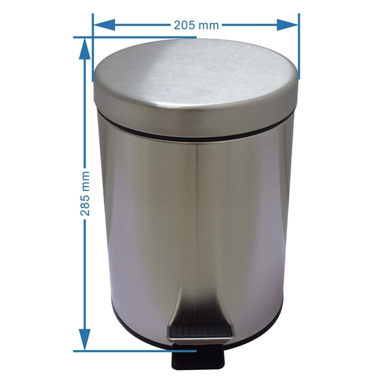stainless steel kitchen trash can