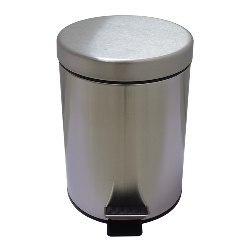 best small brushed stainless steel trash can