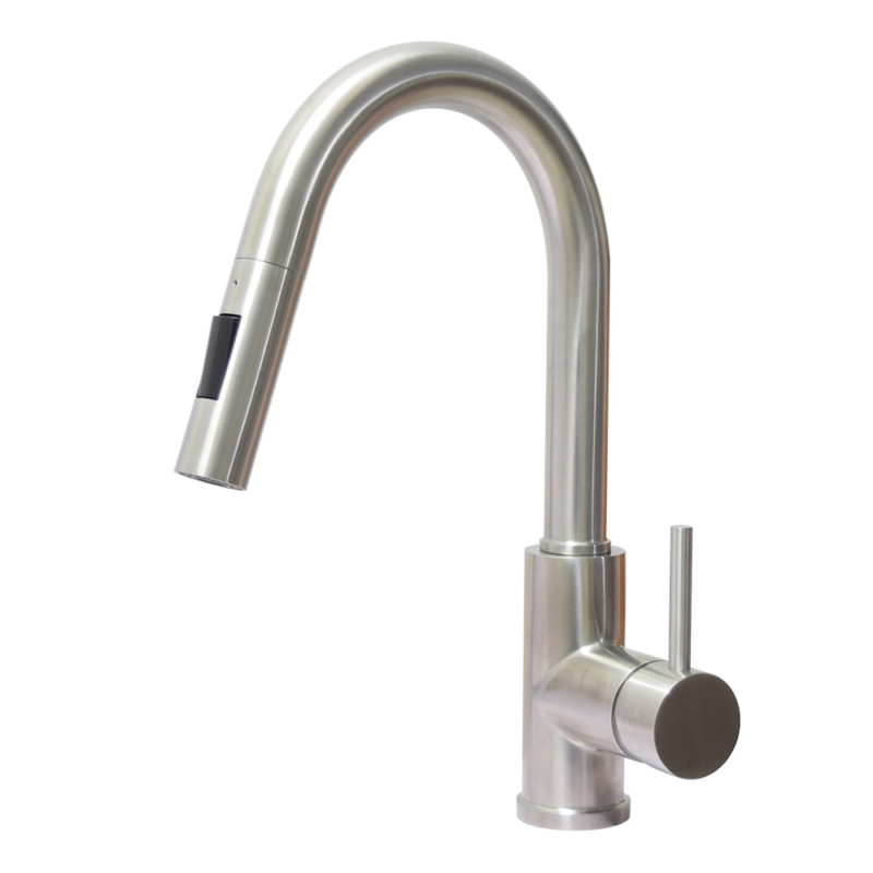 stainless steel pull down kitchen tap