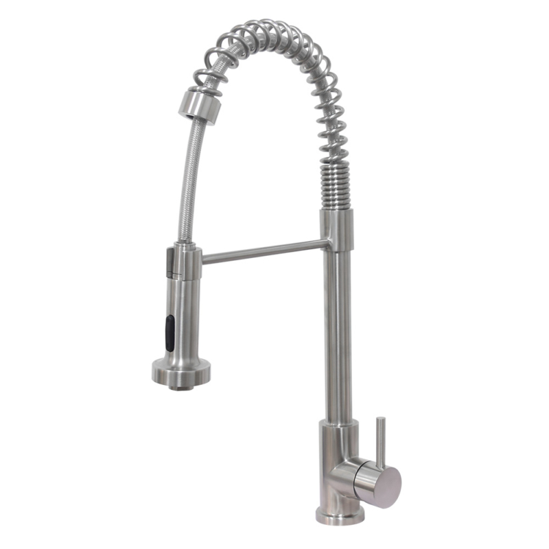 stainless steel commercial kitchen faucet with sprayer