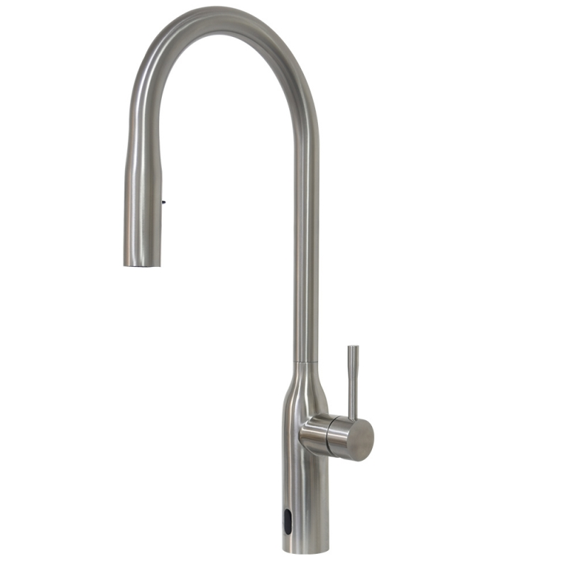 touchless pull down kitchen faucet, stainless steel