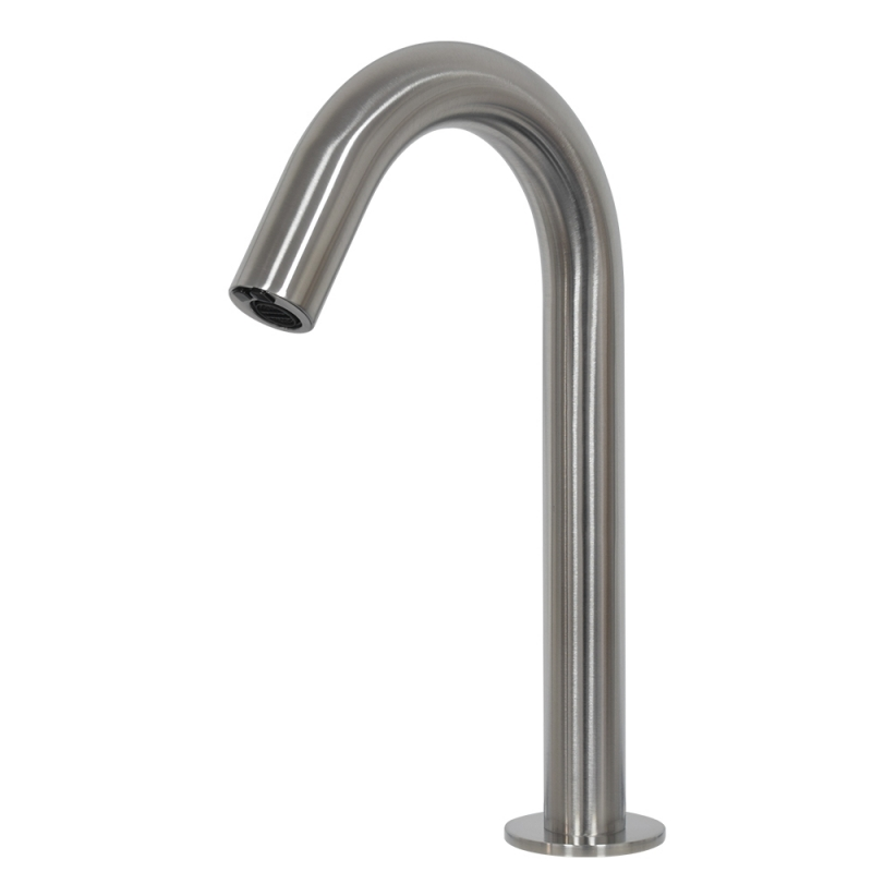 stainless steel deck mounted high arc goosneck touchless sensor faucet