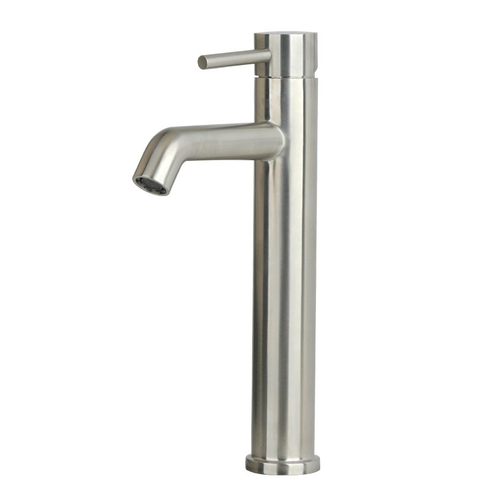 Sorrento Vessel Sink Single Hole Bathroom Faucet, stainless steel,bristol sinks