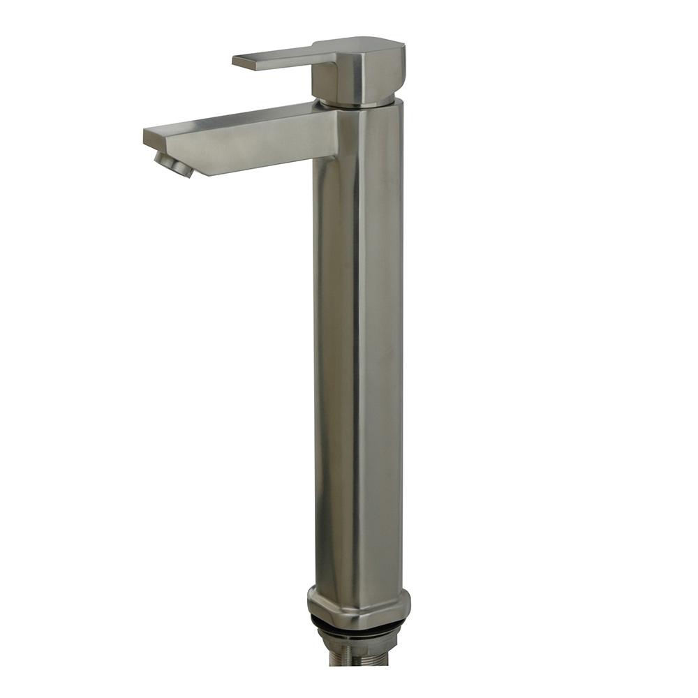 Latina Vessel Sink Single Hole Bathroom Faucet , brushed